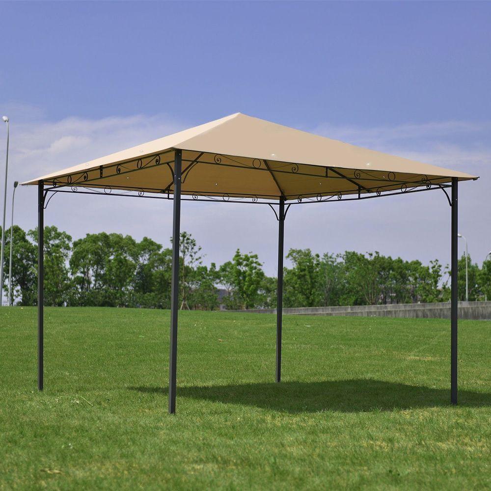 10 X 10 Square Gazebo Steel Frame Pergola Shed Kiosk Paviliion Canopy Awning Unbranded Spitia Gia To Spiti