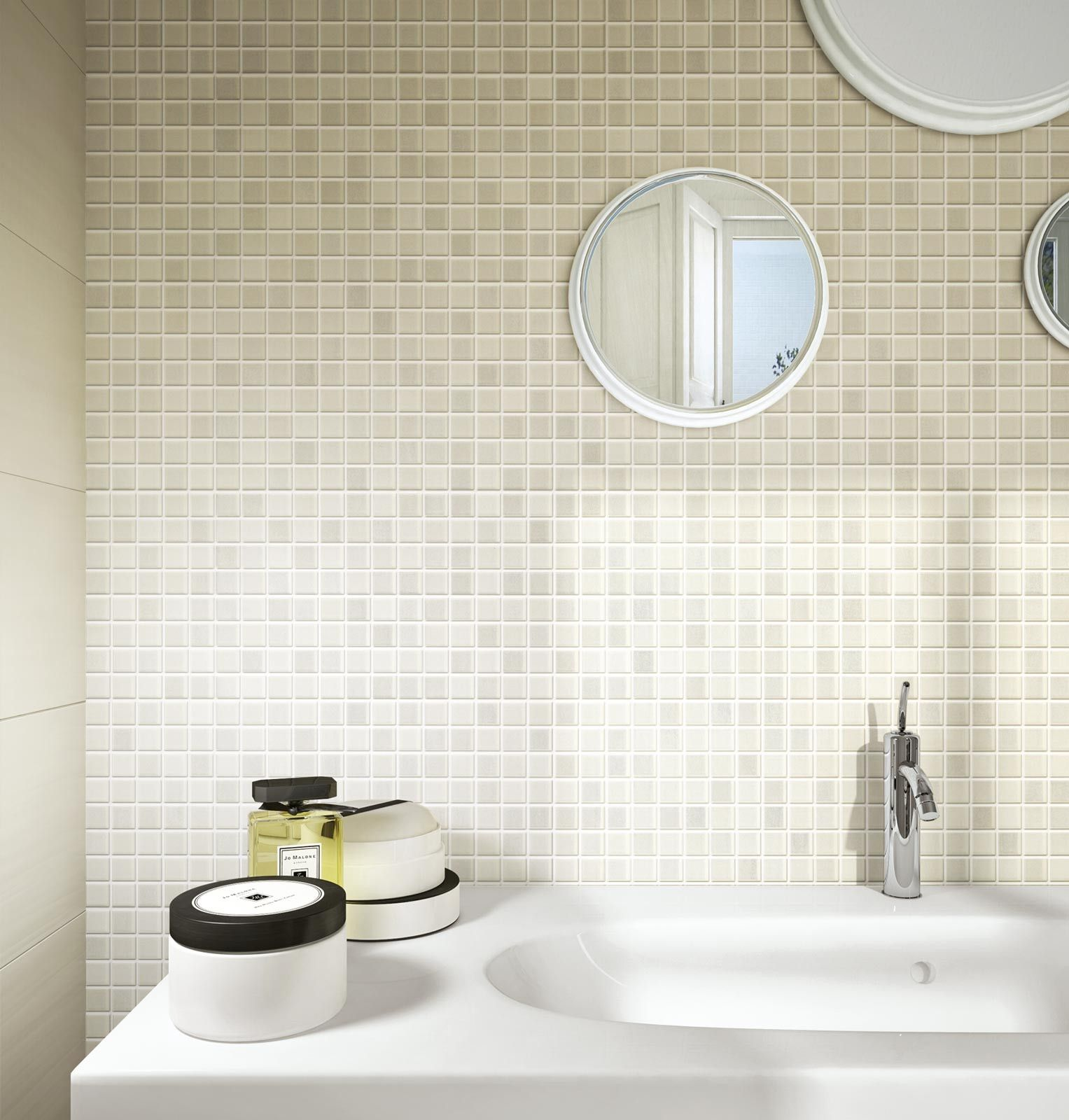 Ragno #Land Mosaico White 20x50 cm R4DD | #Gres #tinta unita ...