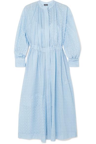 Joseph Rafael Broderie Anglaise Cotton Blend Midi Dress Modest Dresses Midi Dress