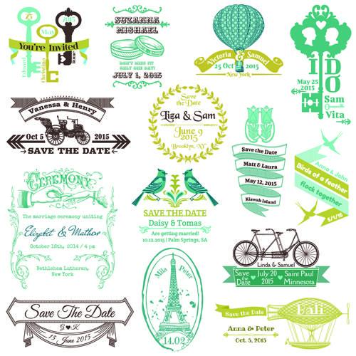 Free vector file set of wedding logo design elements vector 01 free vector file set of wedding logo design elements vector 01 stopboris Image collections