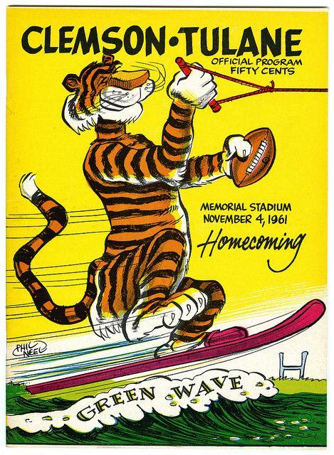 Clemson vs Tulane November 4, 1961 Clemson, Clemson