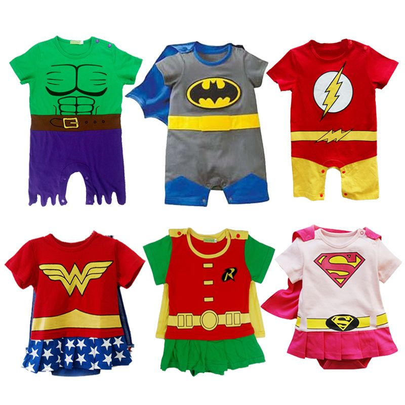 Baby Boy Robin Costume Romper Newborn Jumpsuit Outfit Infant Superhero Playsuit