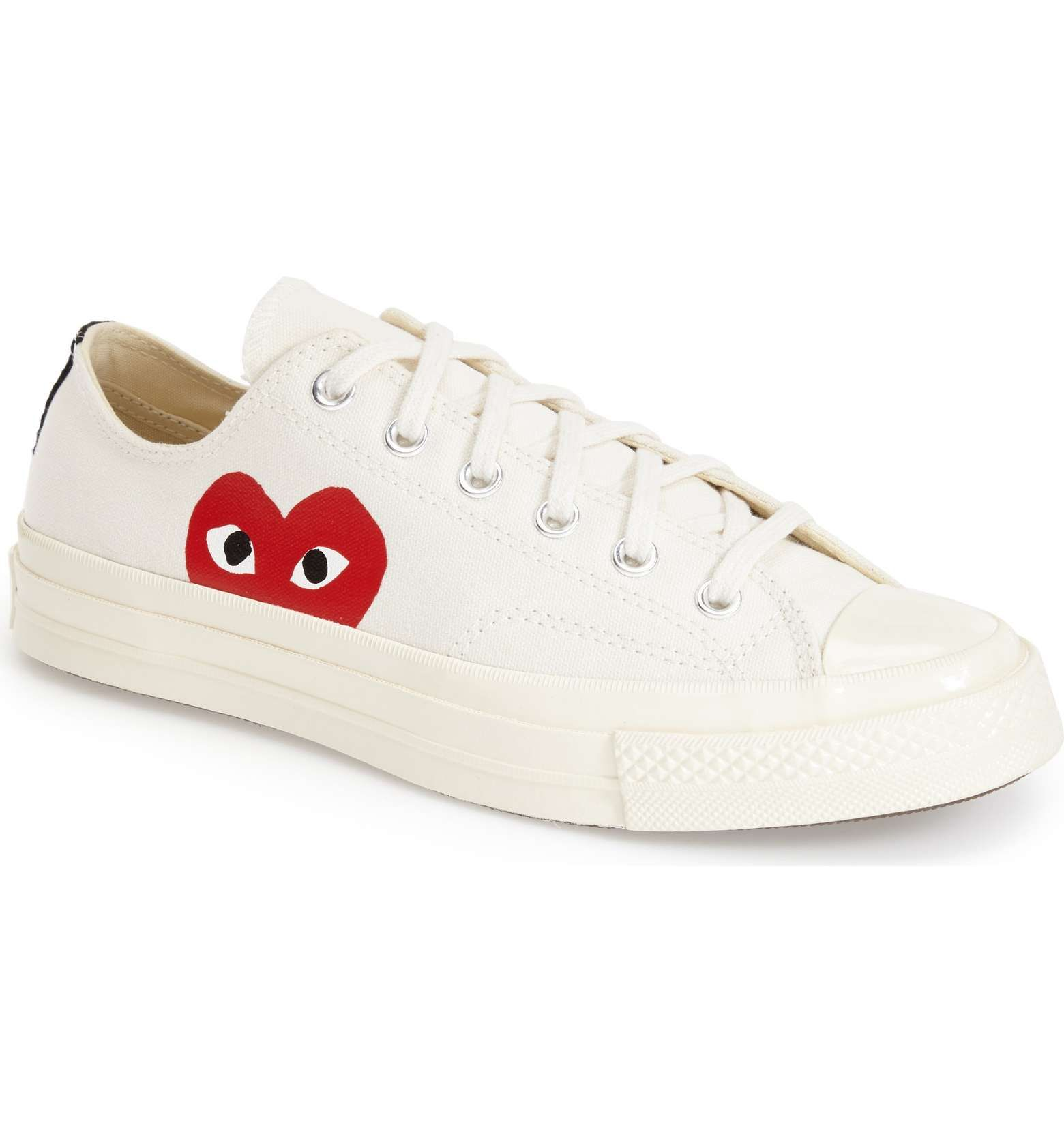 Comme Des Garã§ons Play X Converse High Beige Canvas Sneaker hl8LVIvOo