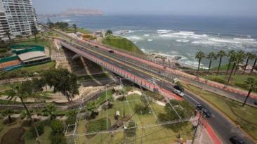 Miraflores: hoy entregan puente mellizo Villena Rey a la ciudad. Marzo 22, 2016.