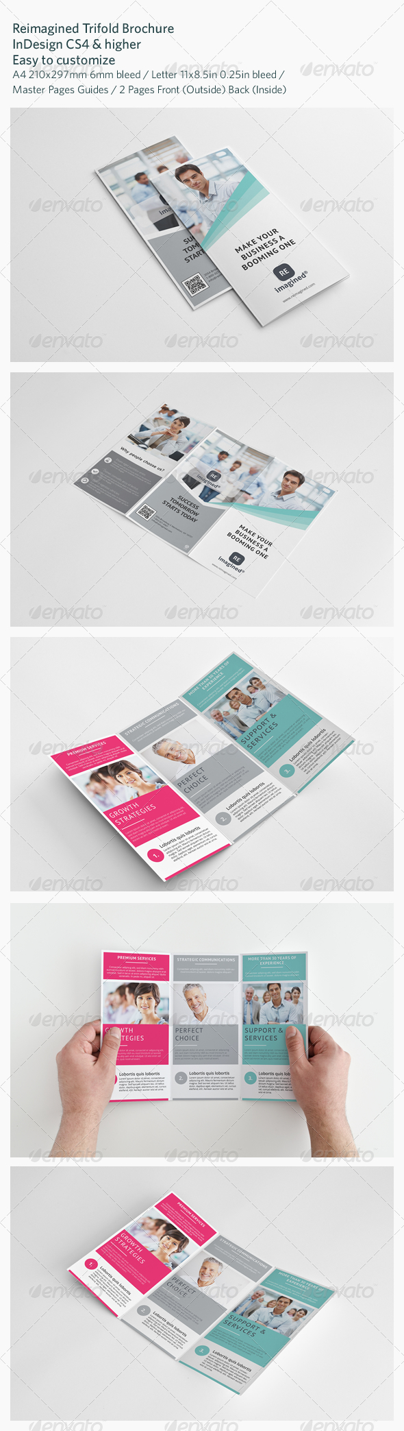 Reimagined Trifold Brochure  Brochures Fonts And Print Templates