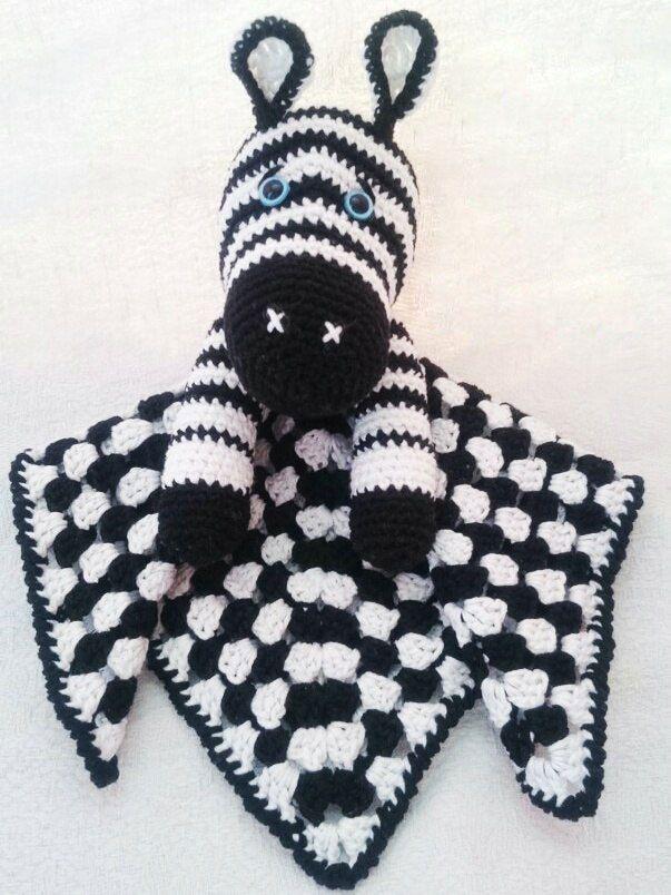 Zebra baby comforter crochet pattern | Babydecken, Häkelanleitung ...