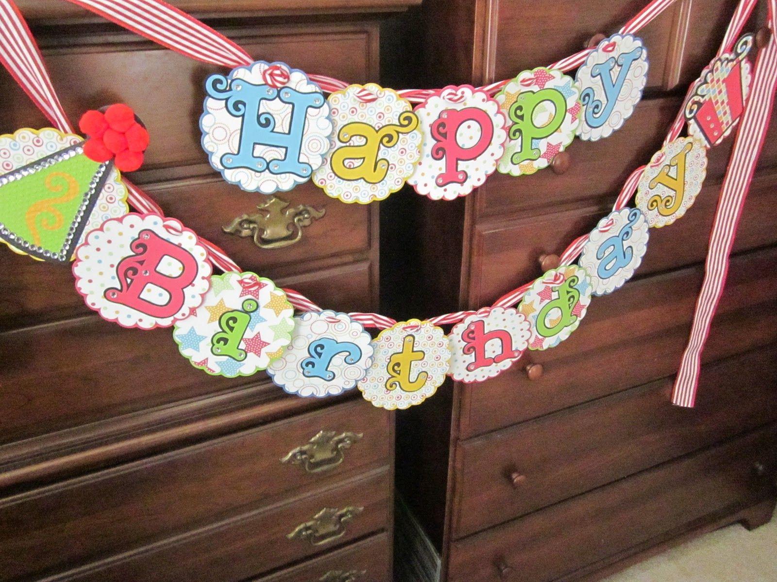 Birthday banner Cricut expression, Craft show ideas, Cricut