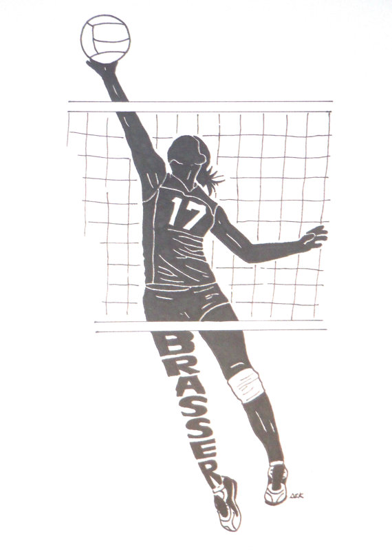 Women's Volleyball Silhouette | 600FloorEmpireState | Volleyball, Volleyball silhouette ...