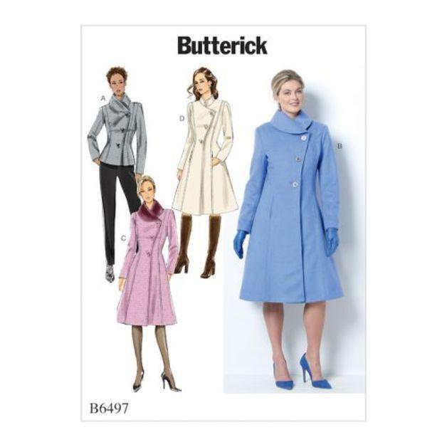 we ♥ BUTTERICK B 6497 F5 DAMEN MANTEL
