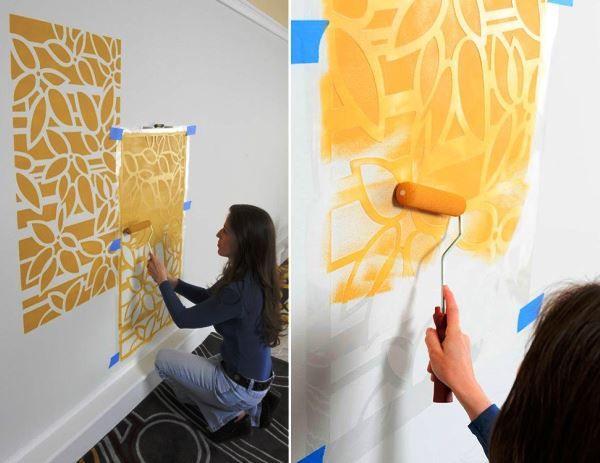Трафареты цветов и бабочек на стену: 34 фото оригинального ...