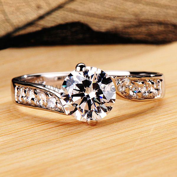 Cute 0.8 Ct Diamond Wedding Band with Custom Names
