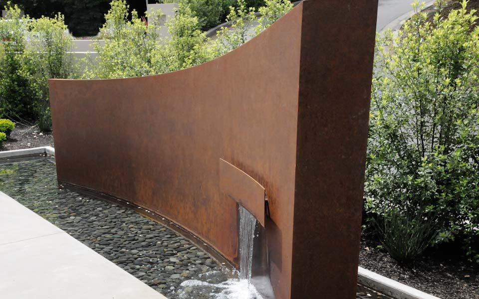 Corten Steel Water Fountain