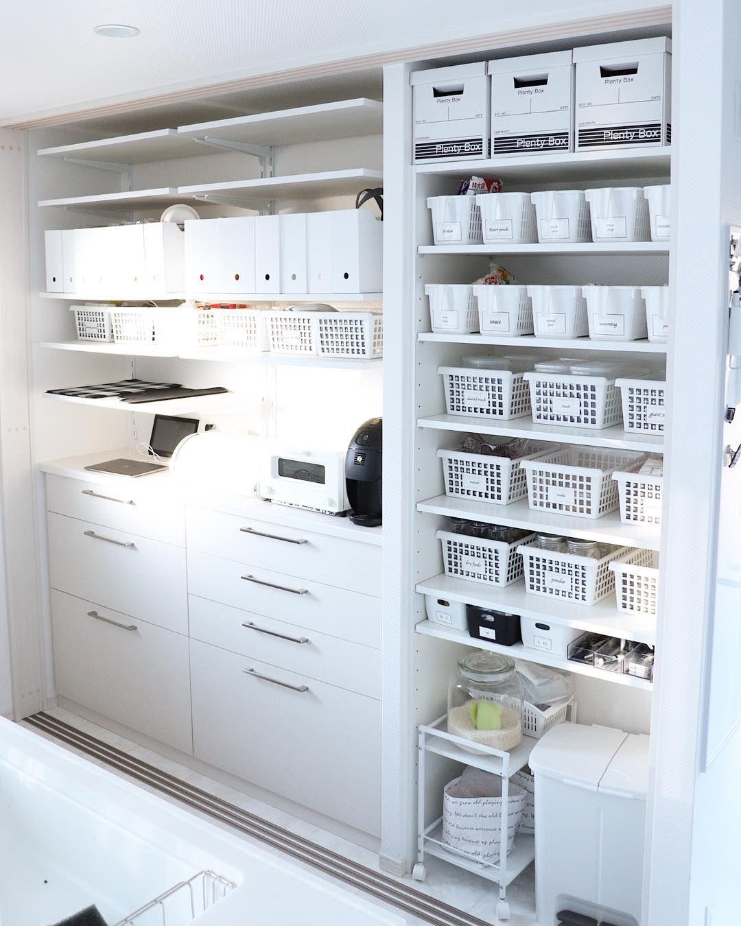 キッチン収納実例集 ケースやボックスをフル活用して使いやすさ重視の収納術をご紹介 Folk インテリア 収納 インテリア 収納 アイデア