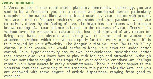 VENUS dominant: