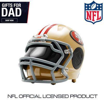 SAN FRANCISCO 49ERS NFL Authentic GAMEDAY Football Helmet w  SPEAKER Eye  Shield (eBay Link) 143afb73e