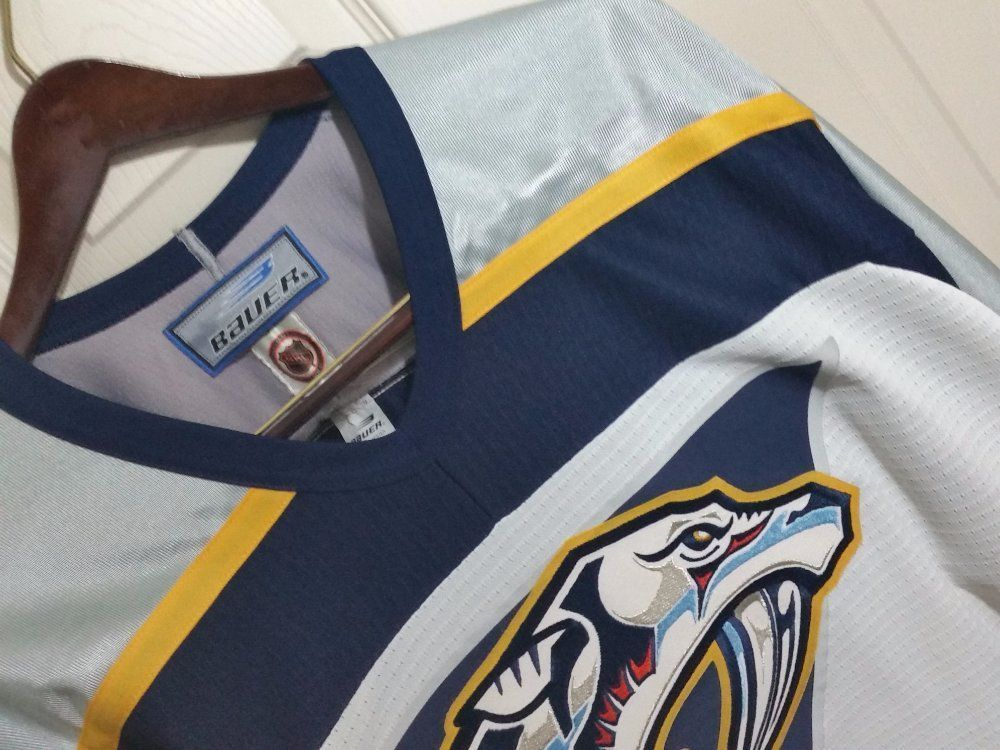 7c909e43 Authentic Nashville Predators Vintage Bauer Hockey Jersey #Bauer # NashvillePredators