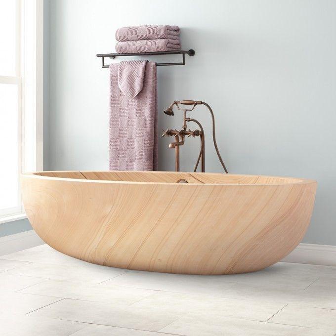 """75"""" Vespasian Stone Double-Slipper Tub"""