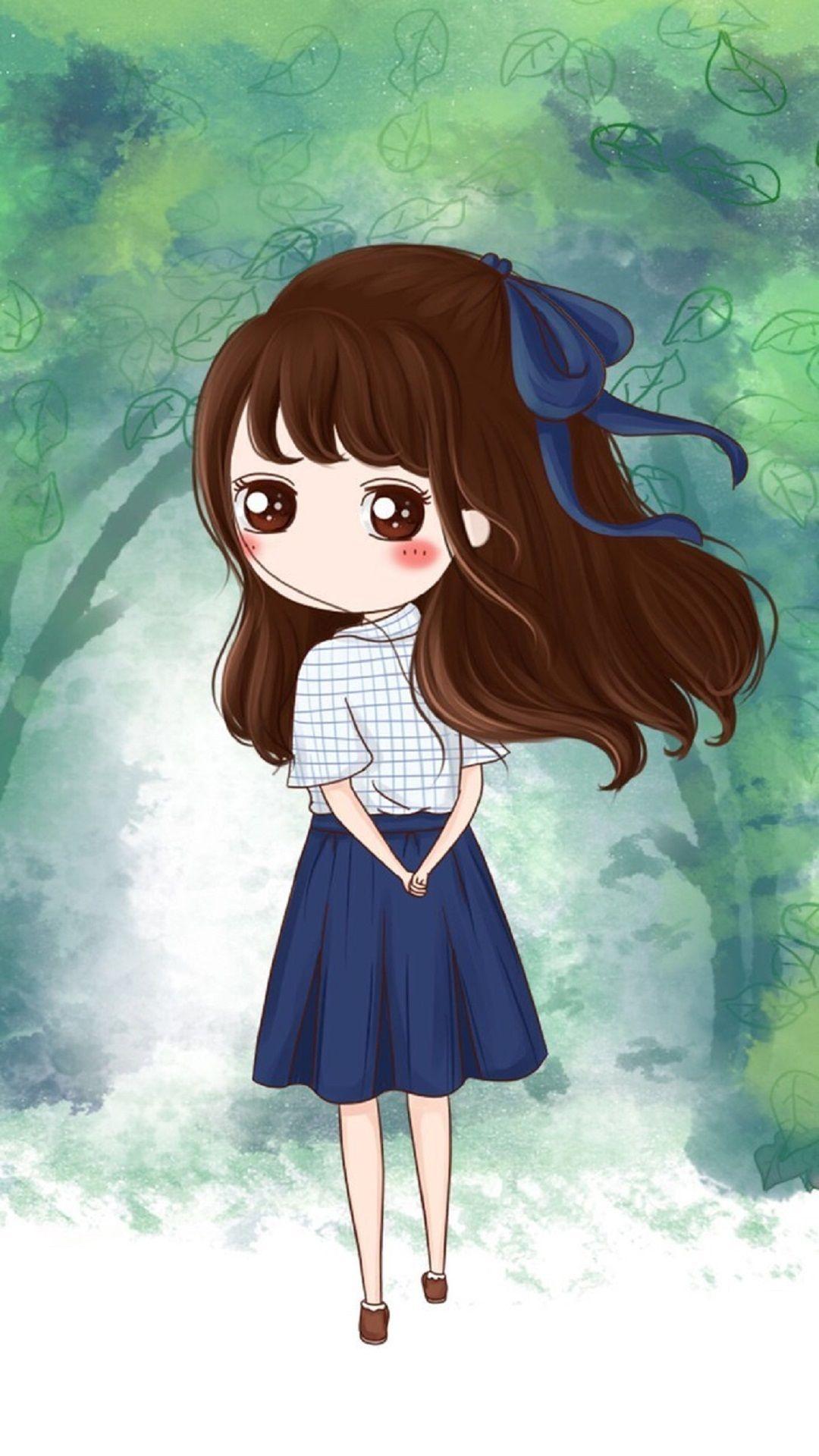 Lonely Chibi Art Girl Tap To See More Cute Chibi Kawaii Girl Art Wallpapers Mobile9 Cute Chibi Cute Drawings Girl Cartoon