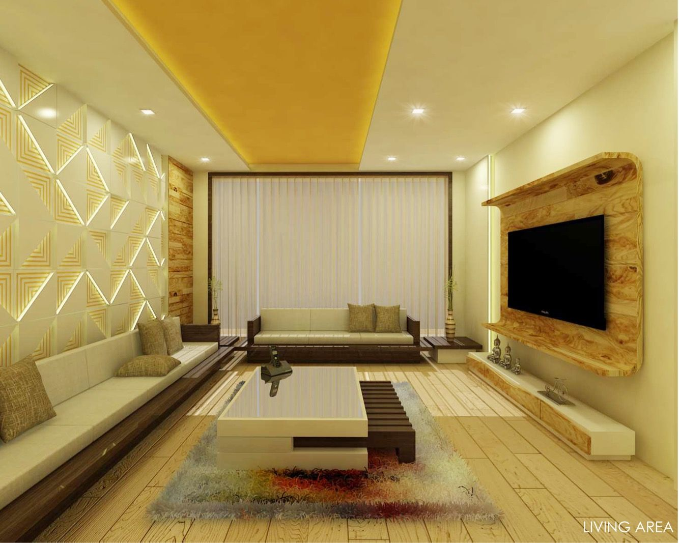 Living Room Interior Room Wall Paneling