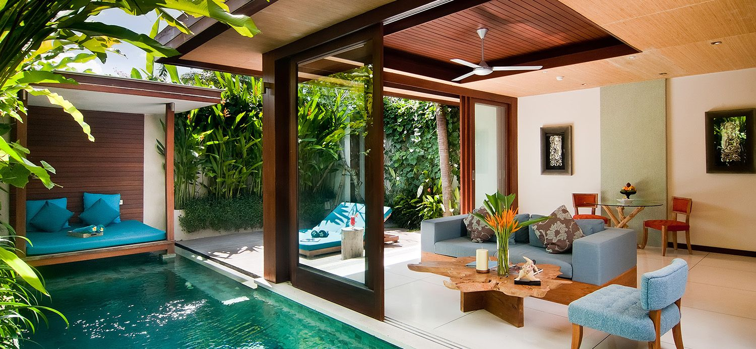 One Bedroom Pool Villa Bali Style Home Bali House Pool Houses