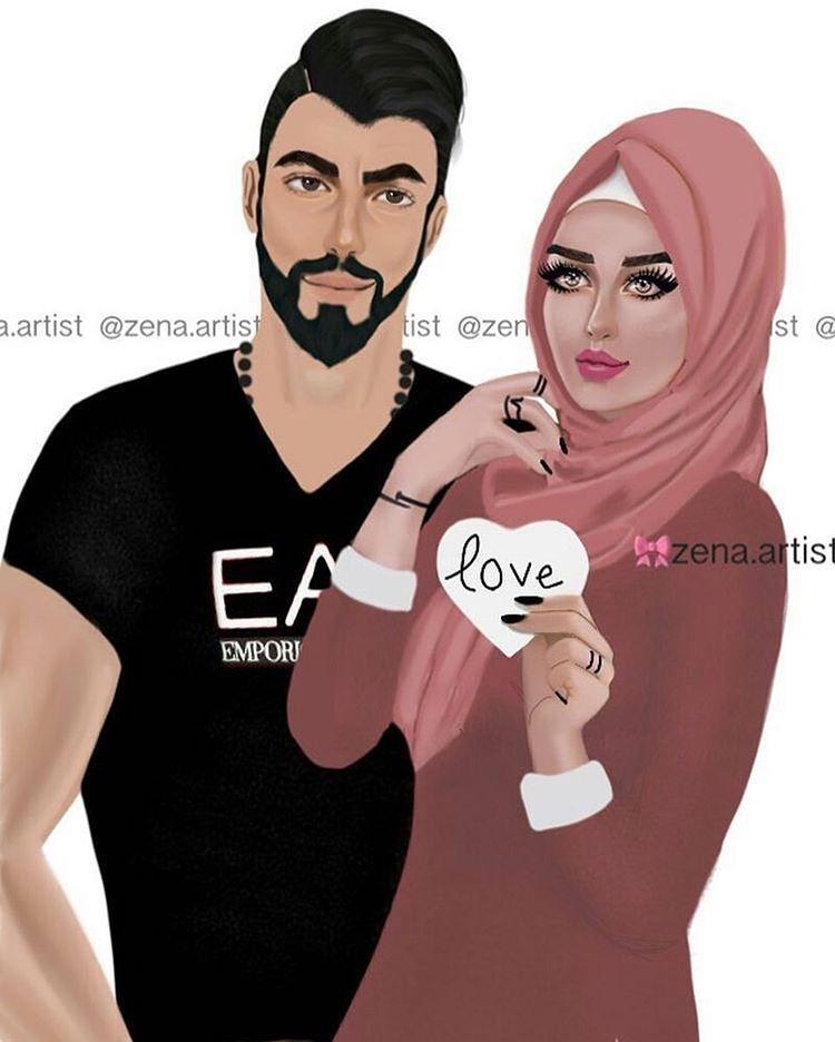 كارتون عراق الحساب الرسمي On Instagram منشن اكسبلور فولو لو سمحت Carton Iq C Cute Couple Art Cute Muslim Couples Love Cartoon Couple