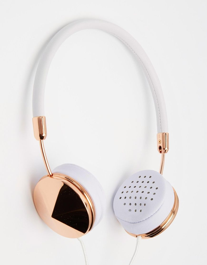 imagen 1 de auriculares en dorado rosa layla de frends. Black Bedroom Furniture Sets. Home Design Ideas