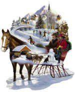 Winter Wonderland 600 Piece Shaped Jigsaw Puzzle
