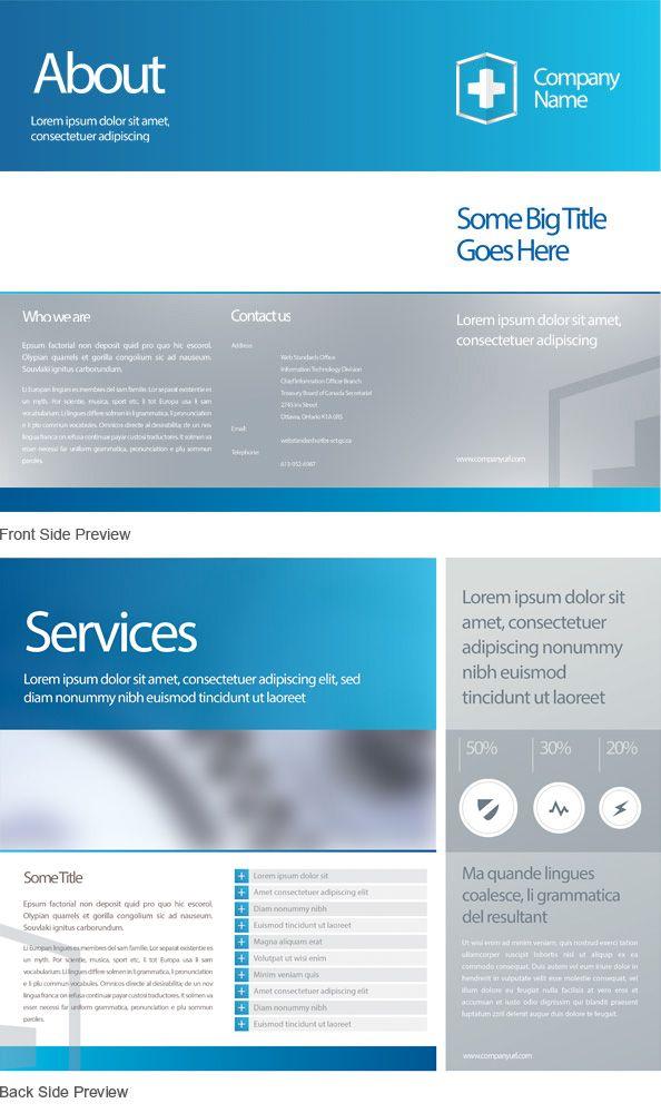 Leaflet PSD Template, vector images - 365PSD Psd Pinterest - technology brochure template