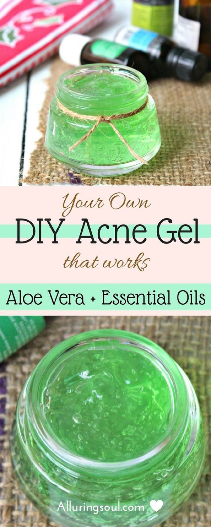 Aloe Vera and Essential Oil DIY Acne Gel That Works  16 MustHave DIY Beauty Recipes To Keep You Beautiful All Year Long