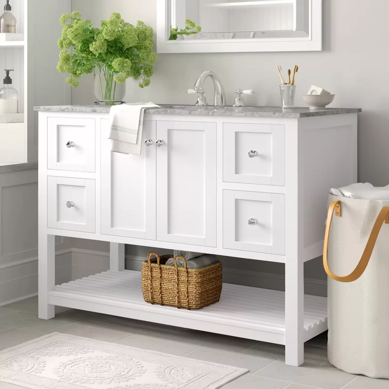 Three Posts Chertsey 48 Single Bathroom Vanity Set Reviews Wayfair In 2020 Single Bathroom Vanity Bathroom Vanity Vanity