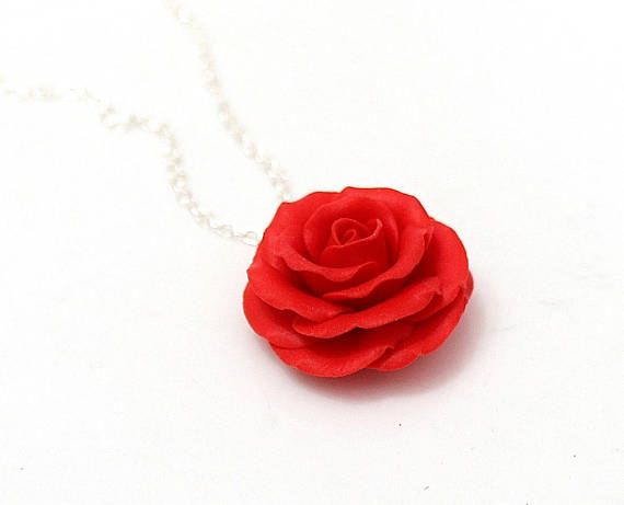 Red rose necklace rose pendant rose charm valentine love red rose necklace rose pendant rose charm valentine love mozeypictures Image collections