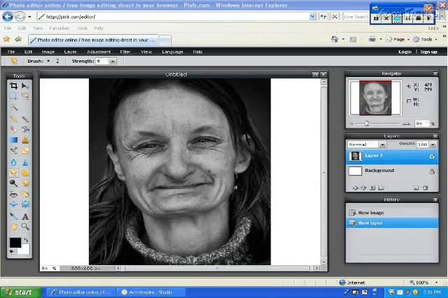 How to use the smudge tool in Pixlr | Genealogy - Photo Retouching