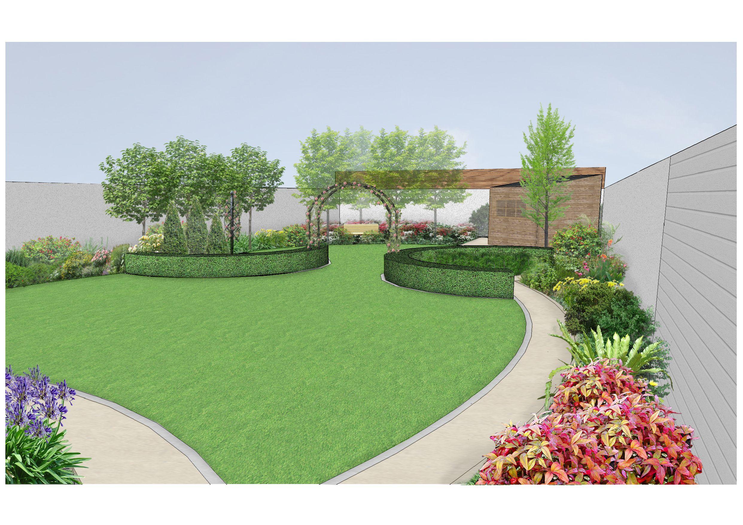 Family Garden Goatstown Design Visual 2 Www Owenchubblandscapers Com Garten Garten Ideen Gartengestaltung