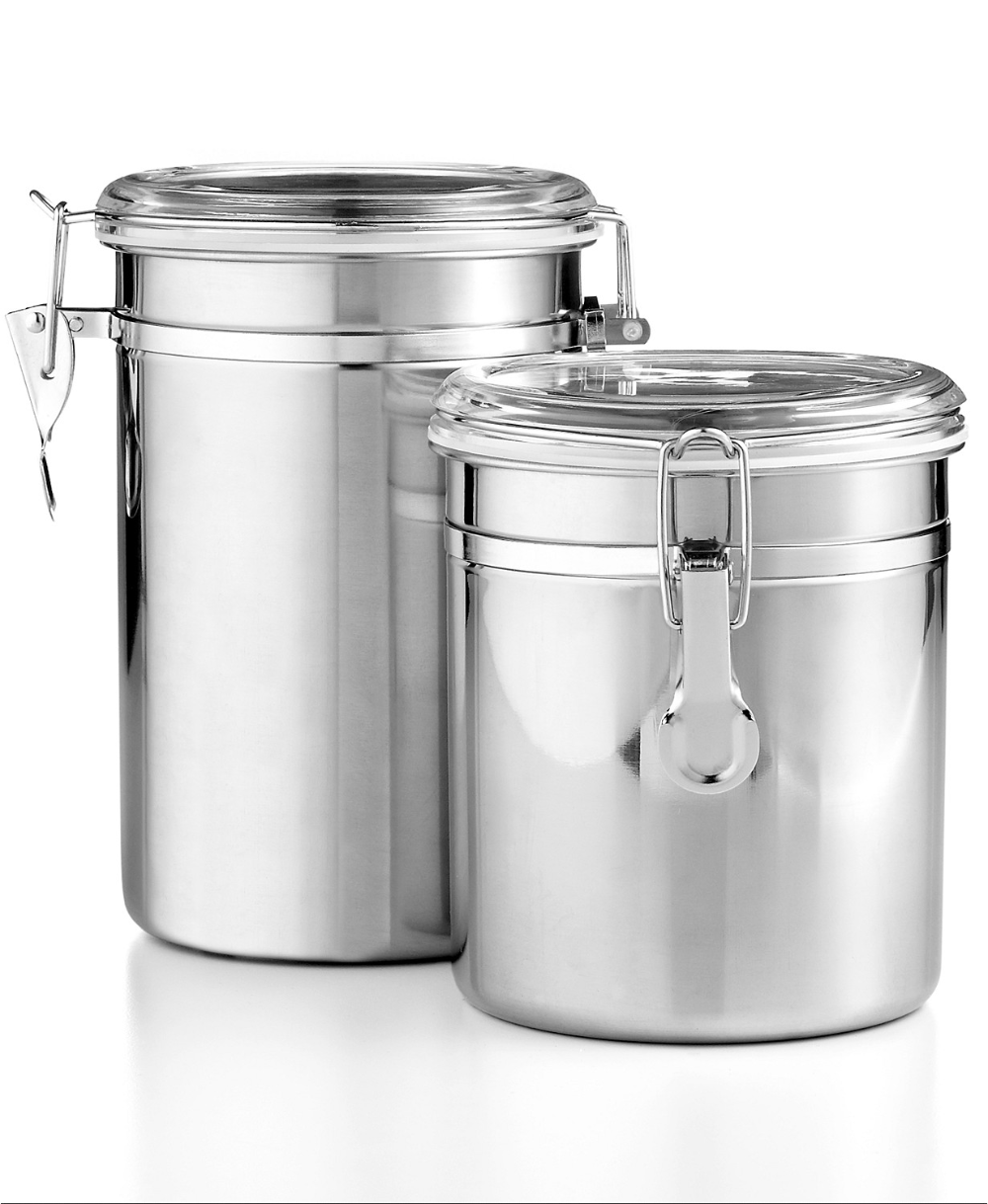stewart kitchen canisters martha stewart collection set of 2 food storage canisters