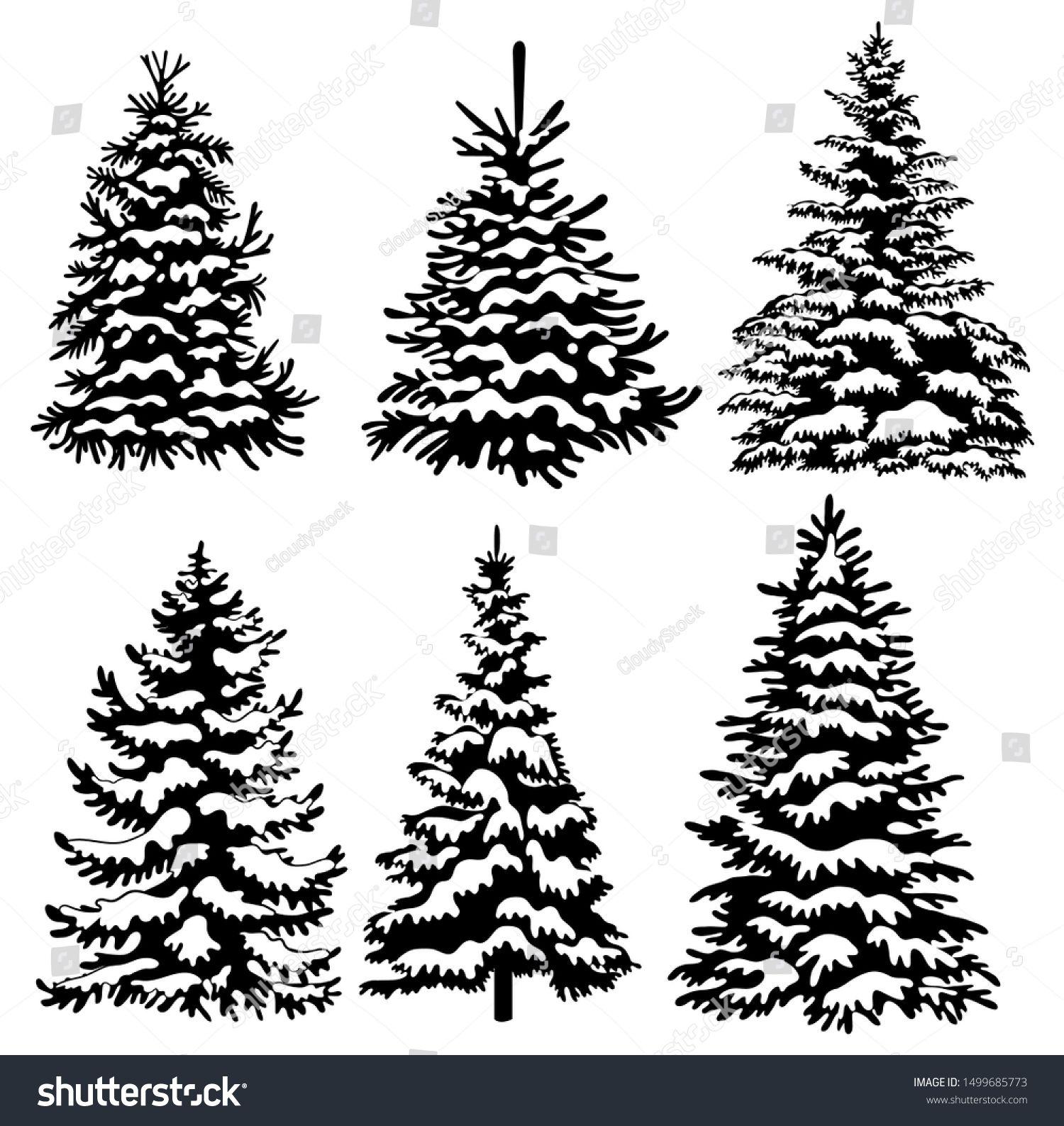 Free Printable Black And White Christmas Trees Description From Pinterest Com I Searche Christmas Tree Drawing Christmas Tree Clipart Whimsical Christmas Art