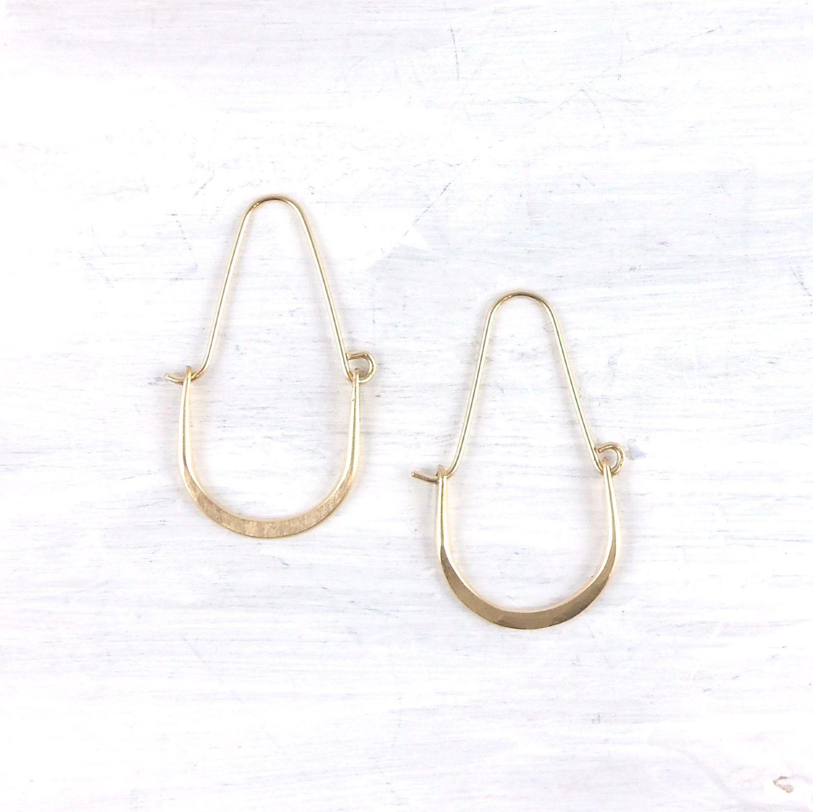 Fail Good Fortune 14k Gold Hoop Earrings Ebay Americanmadeebaysweeps