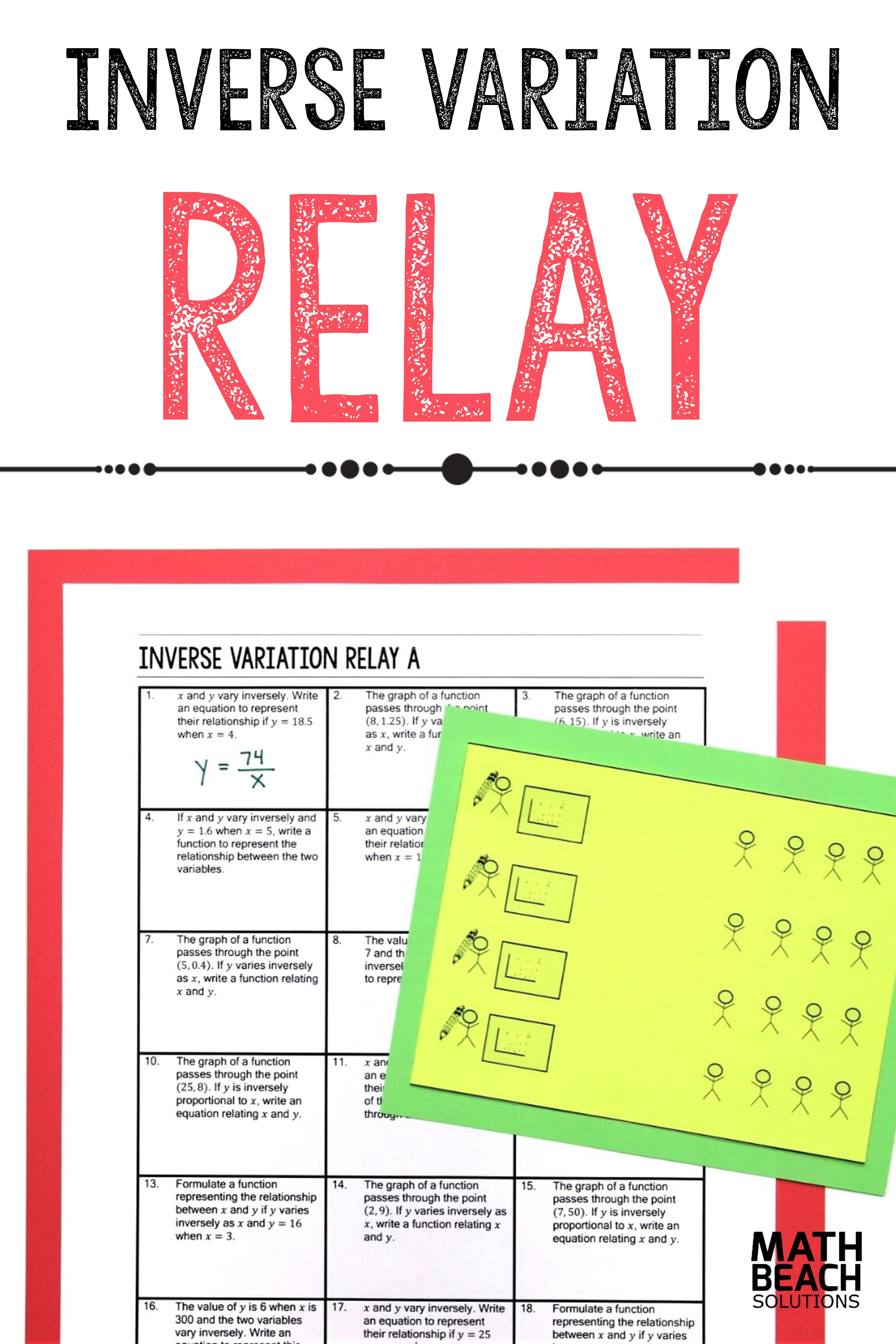Inverse Variation Relay Activity