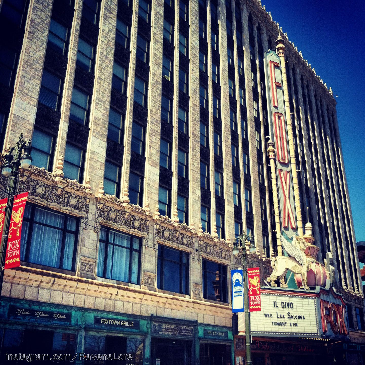 Fox theater facade detroit michigan with images