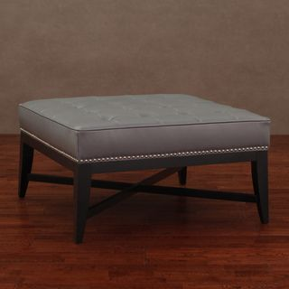 @Overstock - Add a stylish touch to your decor with this luxurious letaher ottoman. An attractive studded detailing and black finish highlight this ottoman.   http://www.overstock.com/Home-Garden/Valencia-Charcoal-Leather-Nail-Head-Ottoman/6731233/product.html?CID=214117 $214.99
