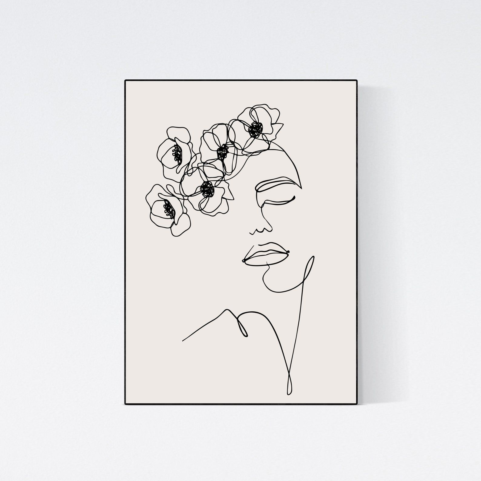 boho chic wall art. simple line drawing one line print line drawing flower flower line art minimalist gallery wall single line drawing