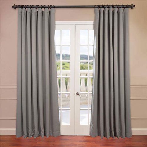 Grey 120 X 100 Inch Double Wide Blackout Curtain Single Panel