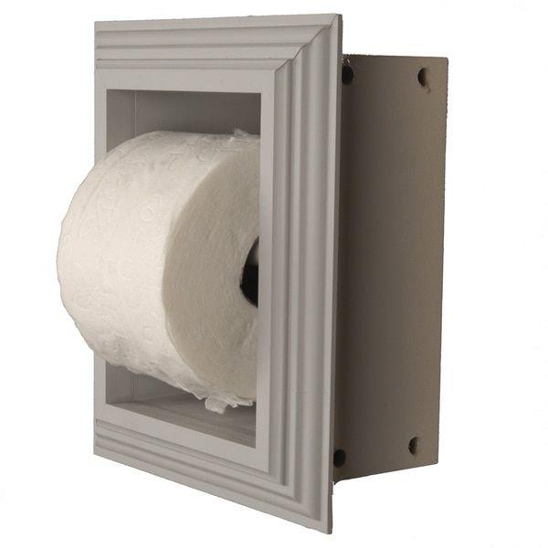 Solid Wood Recessed in wall Bathroom Toilet Paper Holder-Multiple