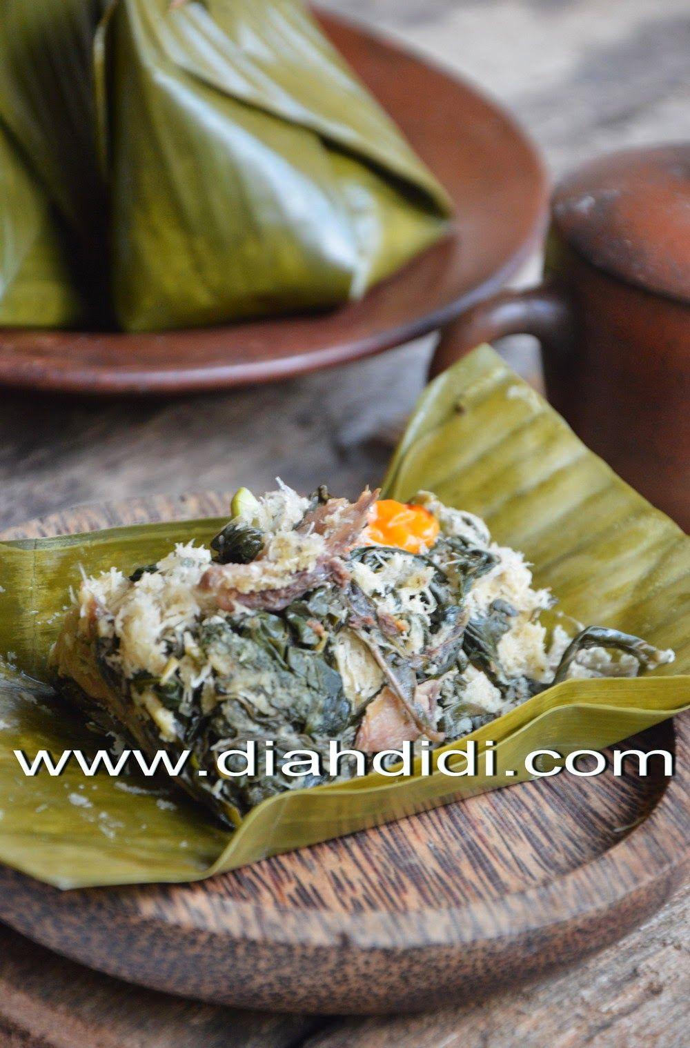 Diah Didi S Kitchen Bothok Daun Singkong Ikan Peda Resep Masakan Masakan Makan Malam