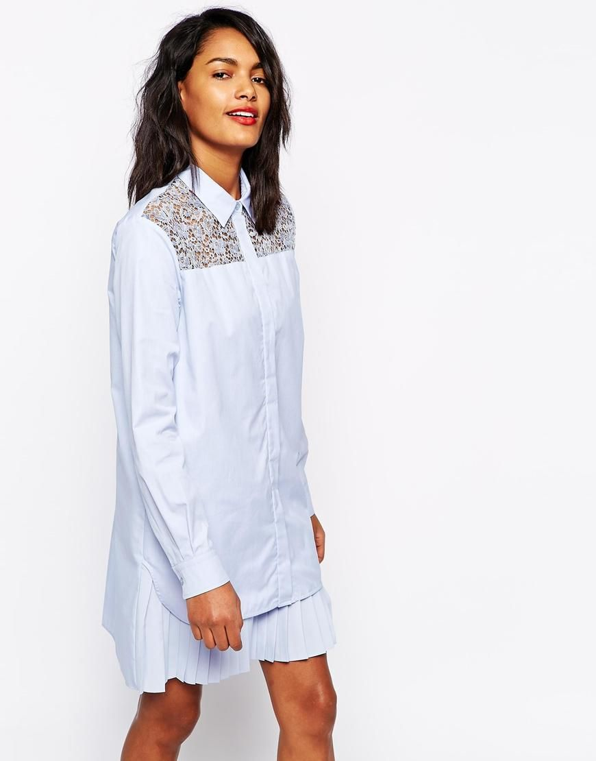 SPORTMAX CODE | Sportmax Code Shirt Dress with Pleats at ASOS