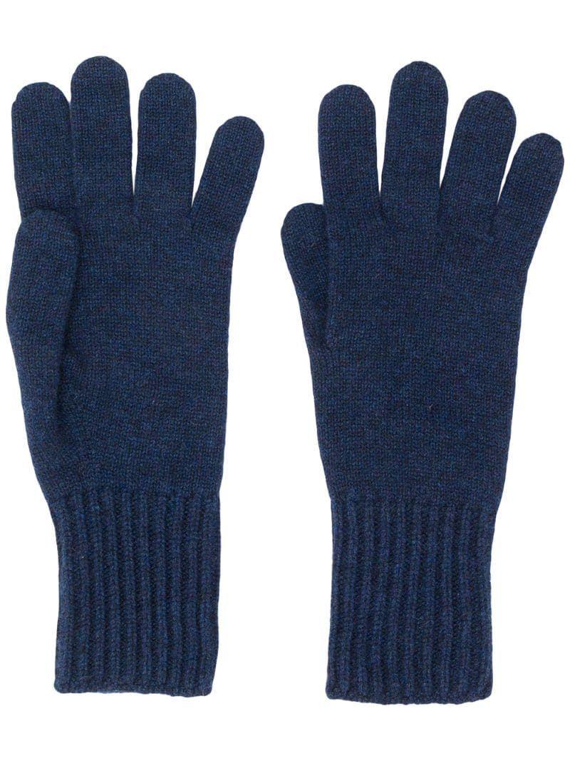 Dark purple cashmere wool button gloves ladies womens NEW made in Scotland