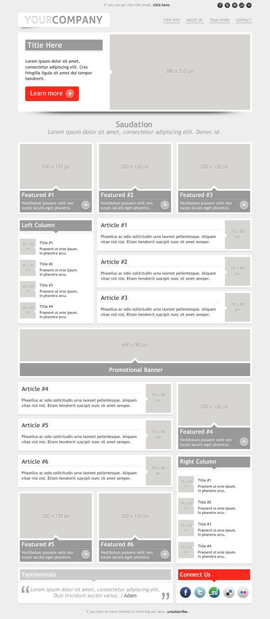 Sensation Email Template Layout Ux Emailing Template The Ux