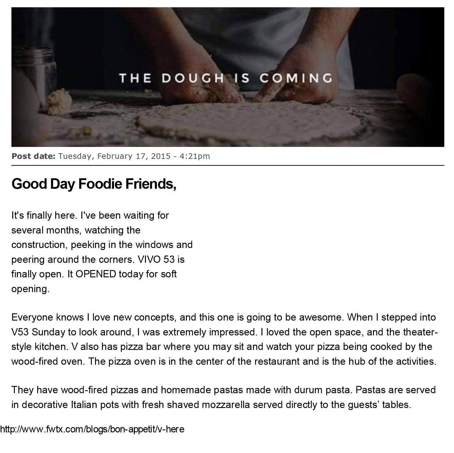 Everyone Knows, Foodie Friends