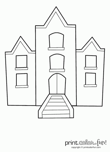 Building with windows printable | Coloring book pages | Pinterest ...
