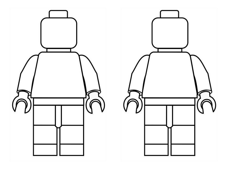 Robots Lego Coloring Pages Lego Man Lego Coloring
