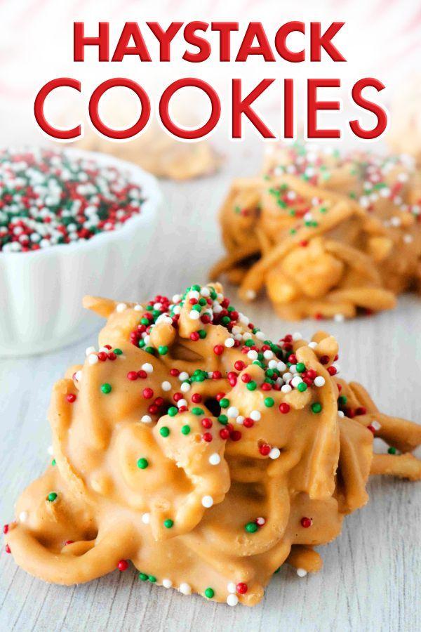butterscotch haystack cookies  recipe  haystack cookies